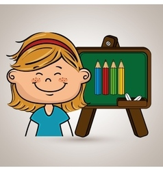 student cartoon color vector image