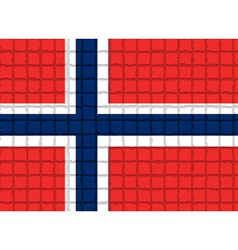 The mosaic flag of norway vector