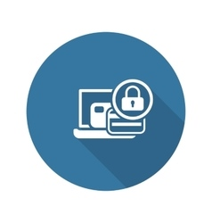 Secure payment icon flat design vector