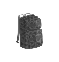 Backpack icon black monochrome style vector