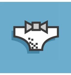 Icon style underwear vector