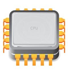 Icon for microprocessor vector image