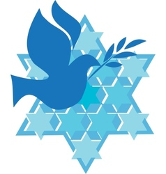 Independence day of israel david star and peace vector