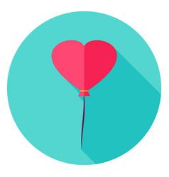 Heart balloon circle icon vector