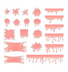 Set of bubble gum splashes vector