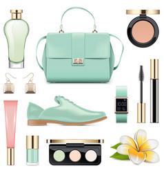 Fashion accessories set 5 vector