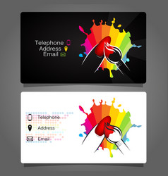 business card for manicure design vector image