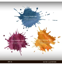Splash watercolor banner vector