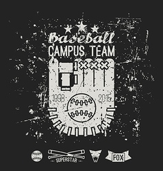 Emblem baseball campus team vector