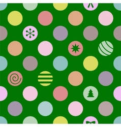 Retro Seamless Christmas Pattern vector image