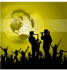 global music background vector image