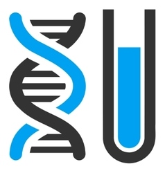 Genetic analysis icon vector