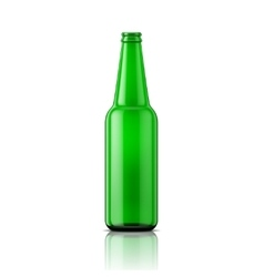 Green beer bottle without cap vector