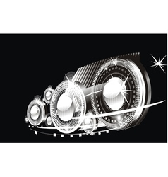 car lamps vector image
