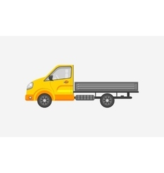 Light truck with trailer side view vector