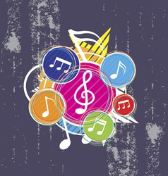 Music on grunge background vector