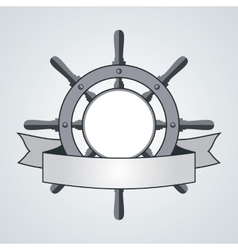 Ship helm background vector