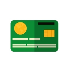 Credit card icon money and financial item design vector