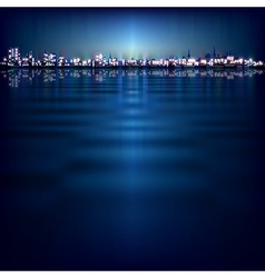 abstract night background with blue sunset and vector image vector image