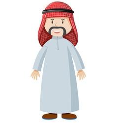 Arab man in costume vector image