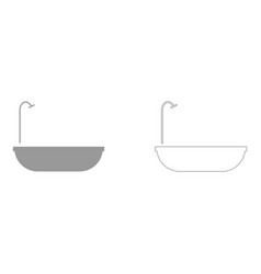 Bath set icon vector