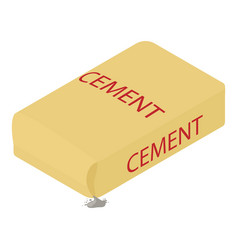 Cement icon isometric 3d style vector
