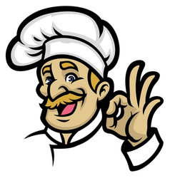 chef mascot vector image