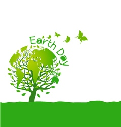 Earth day design on white background vector