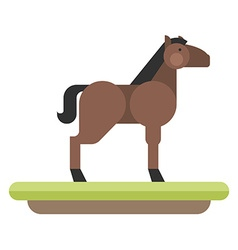 Farm animal Horse flat style vector image vector image