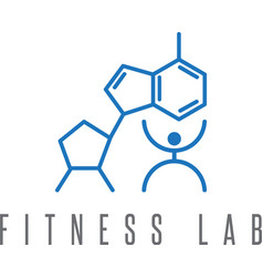 fitness lab abstract design template vector image vector image