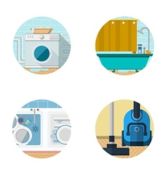 Flat icons collection for housekeeping vector