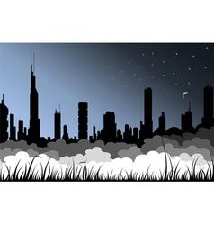 Fog city vector