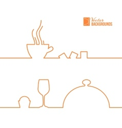 Food and drink line design vector