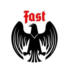 Heraldic black eagle icon vector image