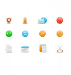 icons for common computer functions vector image vector image