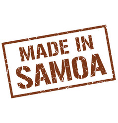 Made in samoa stamp vector
