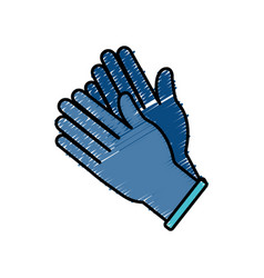 Medicine gloves design vector