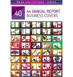 Mega collection of 40 business annual report vector