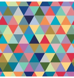 Seamless retro pattern of geometric shapes vector image vector image