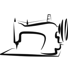 Simple with a sewing-machine vector