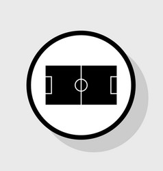 soccer field flat black icon in white vector image vector image