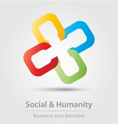 Social and humanity business icon vector image
