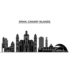 spain canary islands architecture city vector image vector image