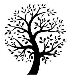 Stylized tree icon vector