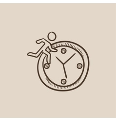 Time management sketch icon vector image vector image