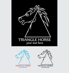 Triangle horse vector