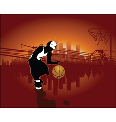 urban background with boy vector image vector image