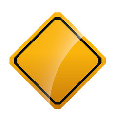 warning traffic sign icon vector image vector image