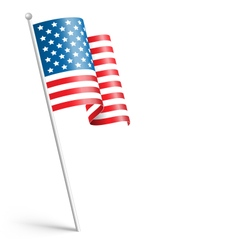 Wavy USA national flag isolated on white vector image vector image