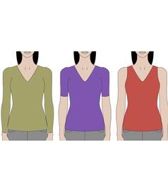 Woman Torsos vector image vector image